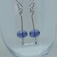 Earrings, Sterling Silver Swarovski –E014