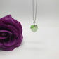 Peridot Swarovski Crystal Heart Necklace August Birthday FREE POSTAGE