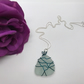 Wire Wrapped Sea Glass Pendant FREE POSTAGE
