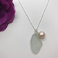 Sea Glass & Pearl Necklace Christmas Gift FREE POSTAGE