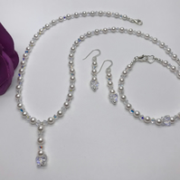 Swarovski Crystal Bridal Set Bride to Be Wedding plus FREE GIFT & FREE POSTAGE