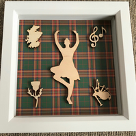 Highland Dancer Scottish Themed Box Art Gift