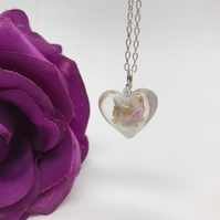 Lampwork Glass Heart Necklace Birthday Gift