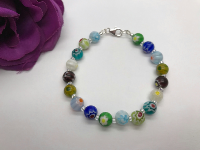 Glass Bead Bracelet Summer  Holiday Jewellery