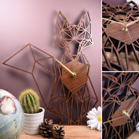 Geometric Fox Clock