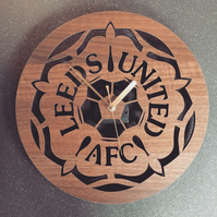Old 90s Leeds United Badge Clock