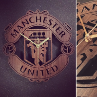 Manchester United Badge Clock