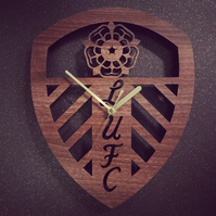 Leeds United Crest Badge Clock