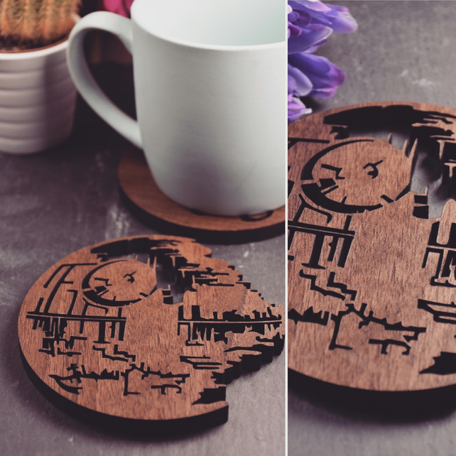 Pack of 4 Death Star Coasters