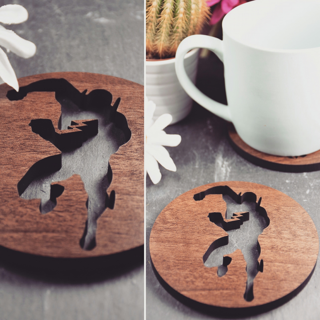 Pack of 4 Flash Coasters