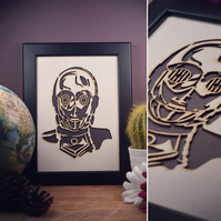 Star Wars C-3PO Framed Artwork - 13cm x 18cm
