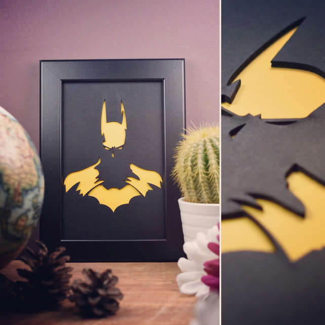 Batman Framed Artwork - 10cm x 15cm