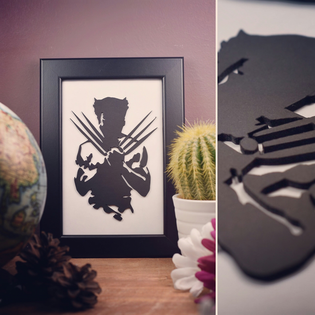 Wolverine Framed Artwork - 10cm x 15cm