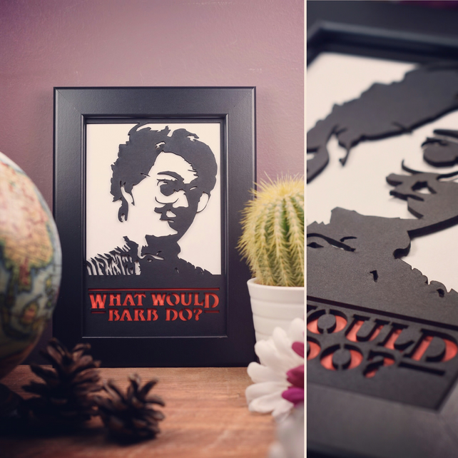 Stranger Things - Barb - What Would Barb Do? Framed Artwork - 10cm x 15cm