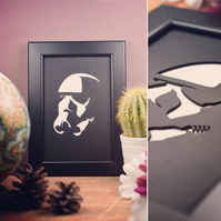 Star Wars Storm Trooper Framed Artwork - 13cm x 18cm