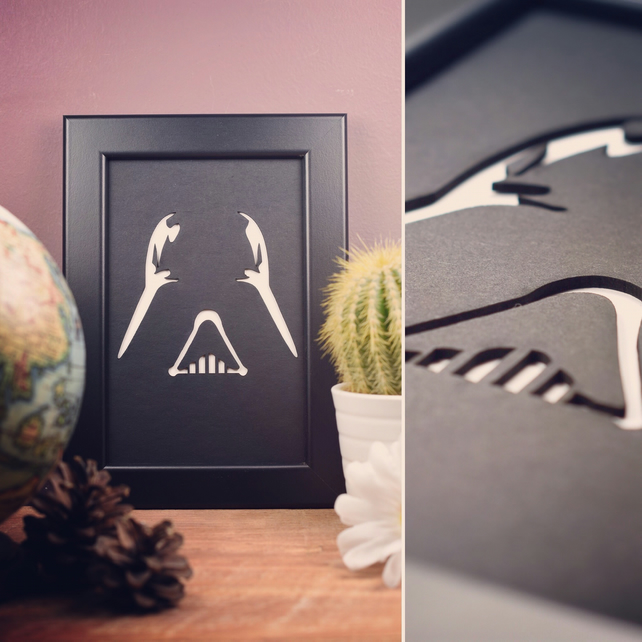 Star Wars Darth Vader Framed Artwork - 10cm x 15cm