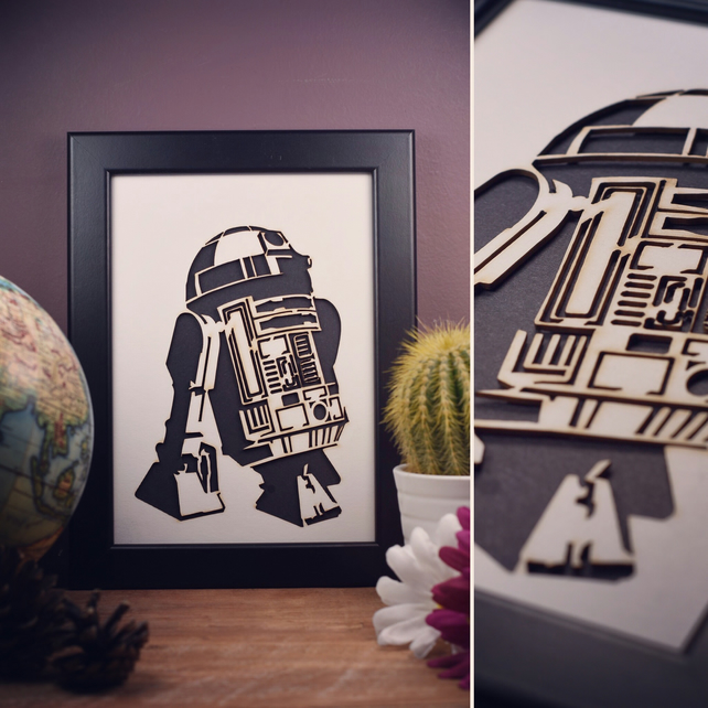Star Wars R2-D2 Framed Artwork - 13cm x 18cm