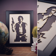 Star Wars Hans Solo Framed Artwork - 13cm x 18cm