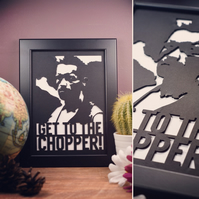 Predator - Get to the Chopper Framed Artwork - 13cm x 18cm