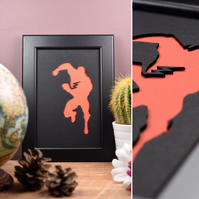 The Flash Framed Artwork - 13cm x 18cm (Black)