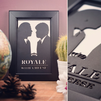 Pulp Fiction - Royale With Cheese Framed Artwork - 13cm x 18cm