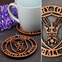 Pack of 4 Bury Town FC Coasters
