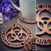 Individual Zombie Outbreak Response Team Coasters