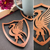Individual Liverpool Liver Bird Coasters perfect for scousers or mad LFC fans