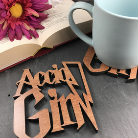 Individual Harry Potter Accio Gin Coaster. Harry Potter lovers