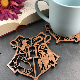 Individual Harry Potter Hogwarts crest Coaster. Harry Potter lovers