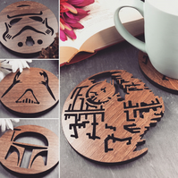 Mixed Pack of 4 Star Wars Coasters