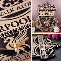 Liverpool FC Crest Clock. Perfect gift for Liverpool fans. Liverpool fanatics.