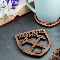 Individual West Ham Badge Coaster