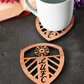 Individual Leeds United Shield Badge Coaster