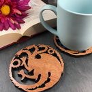 Individual House Targaryen Game of Thrones Coaster.
