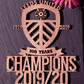 Leeds United Champions 2019-20 Wall Plaque