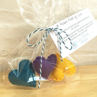 A Pocket Full of Love - Teal, Purple, Yellow