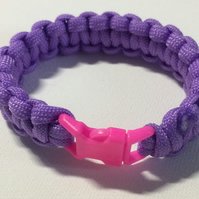 Lilac and pink paracord bracelet