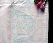 Pillow Case, English Rose to Embroider, Embroidery Design