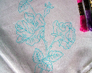 Ready to Embroider, Table Cloth, Floral, Embroidery Design, Embroidery Pattern