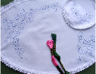Ready to embroider, Dressing Table, Chewal Set, Floral Embroidery Design Pattern