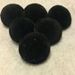 Various Sizes Available - Black Velvet, Fabric Covered Shank Buttons