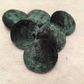 Large Green Crushed, Velvet, Fabric Covered Buttons Choice of Button & Pack Size