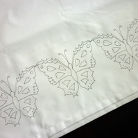 Ready to Embroider, Pillow Cases, with Unique, Embroidery Design, Pattern