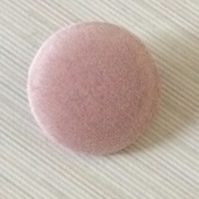 Light Pink Velvet, Fabric Covered Buttons - Choice of Button & Pack Size