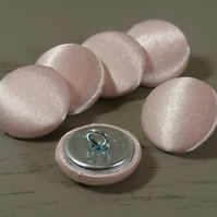 Pink Satin Covered Fabric Buttons - Choice of Button & Pack Sizes
