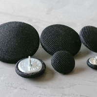 Black Twill Suit Buttons - Available in Different Button & Pack Sizes