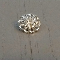 11mm Metal Shank Silver Buttons with a Diamante Centre