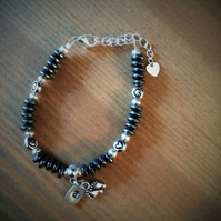 Hematite bracelet - ideal gift for the birth of a child