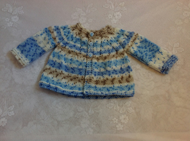 Baby Matinee Coat Jacket Cardigan - To fit 0-3 months